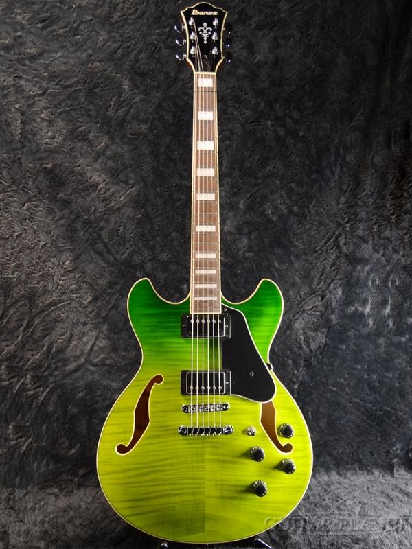 2018セール Ibanez Artcore Artcore AS73FM-GVG Valley 新品[アイバニーズ][フルアコ][Green Valley Gradation,グリーン,緑][Electric Ibanez Guitar,エレキギター], アロマ×アロマ:0bc8a725 --- mokodusi.xyz