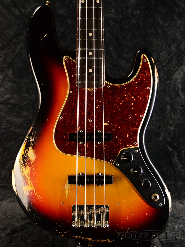 A product made in Fender Custom Shop MBS 1964 Jazz Bass Relic -3 Tone  Sunburst- by Dennis Galuszka 2019 [fender custom shop] [sunburst] [Dennis  gal