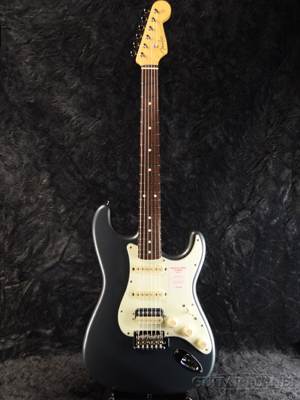 Fender Made in Japan Hybrid 60s Stratocaster HSS -Charcoal Frost Metallic- 新品 《レビューを書いて特典プレゼント!!》[フェンダージャパン][ハイブリッド][ストラトキャスター][Electric Guitar,エレキギター]