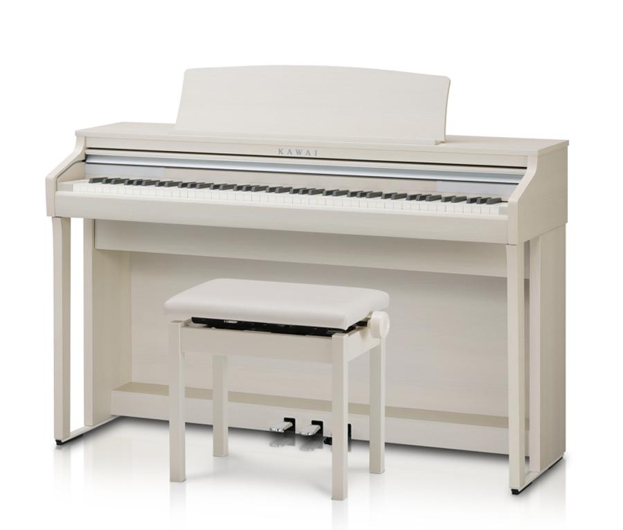 【ヘッドホン、専用高低自在椅子付】KAWAI CA48A プレミアムホワイトメープル調仕上げ Digital Piano 新品 電子ピアノ[河合,カワイ][88鍵盤][白][Digital Piano,デジタル,エレピ][CA-48]