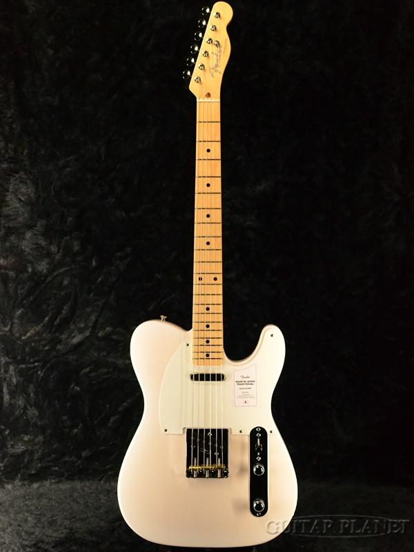 【NEW MODEL】Fender Made In Japan Traditional 50s Telecaster -White Blonde- 新品 [フェンダージャパン][トラディショナル][ホワイトブロンド,白][テレキャスター][Electric Guitar,エレキギター]