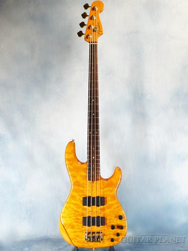 【中古】Fender American Deluxe Zone Bass -Amber- 2001年製【3.95kg】[フェンダー][アメリカンデラックス][Yellow,イエロー,アンバー,黄][ゾーンベース][Electric Bass,エレキベース]【used_ベース】