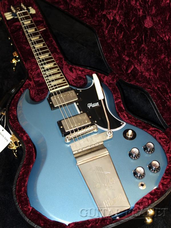 【NAMM2020現地選定品】Gibson Custom Shop 1964 SG Standard Reissue w/Maestro Vibrola VOS -Light Antique Pelham Blue- #000042 新品[ギブソン][ナムショー][ライトアンティークペルハムブルー,LAPB,青,メタリック][SG][Electric Guitar,エレキギター]