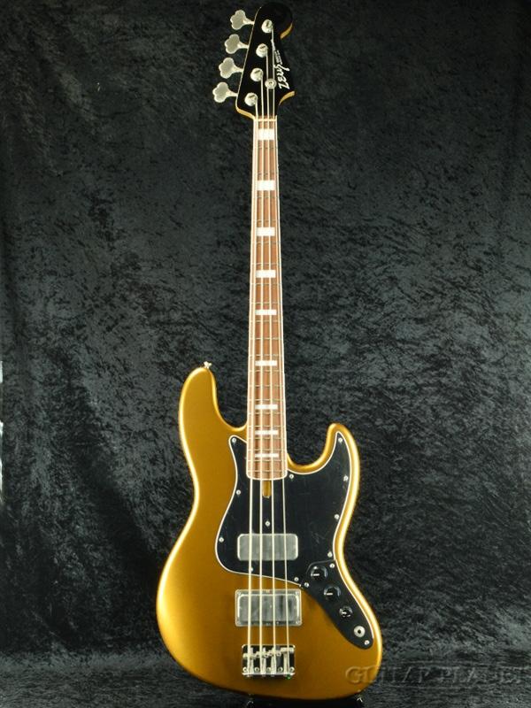 【御委託中古品】Zeus Custom Guitars ZJB-70B/TB -Gold- 2017年製[ゼウス][ゴールド,金][Jazz Bass,ジャズベ-ス][Electric Bass,エレキベース]【used_ベース】