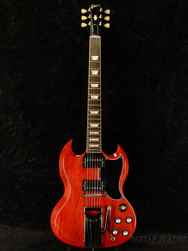 【美品中古!】Gibson SG Standard '61 Sideways Viblora -Vintage Cherry- 2019年製[ギブソン][赤,Red,ヘリテイジチェリー][Electric Guitar,エレキギター]【used_エレキギター】