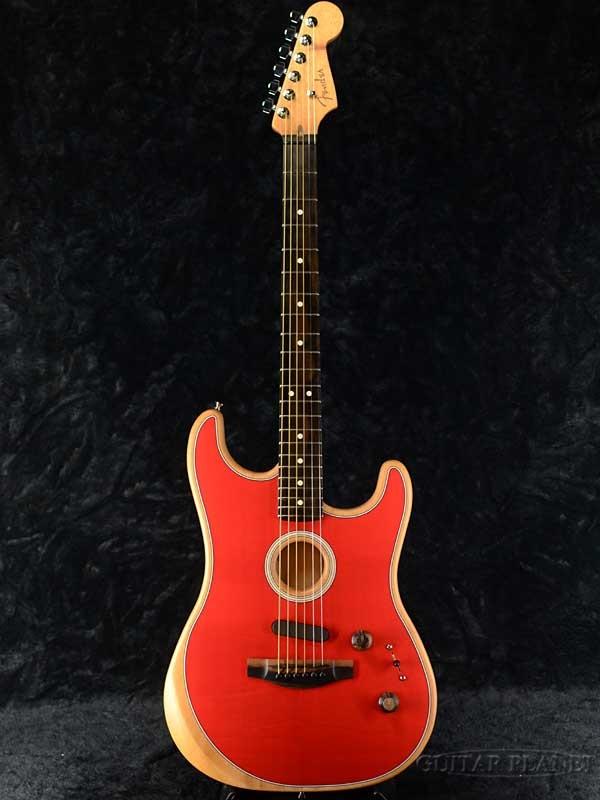 Fender USA American Acoustasonic Stratocaster -Dakota Red- 新品[フェンダー][アコースタソニック][ダコタレッド,赤][ストラトキャスター][Electric Guitar,エレキギター]