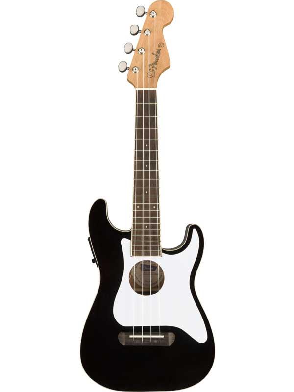 Fender Fullerton Strat Uke -Black- 新品 コンサートウクレレ[フェンダー][Ukulele,ウクレレ][ブラック,黒]