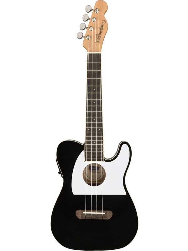 Fender Fullerton Tele Uke -Black- 新品 コンサートウクレレ[フェンダー][Ukulele,ウクレレ][ブラック,黒]