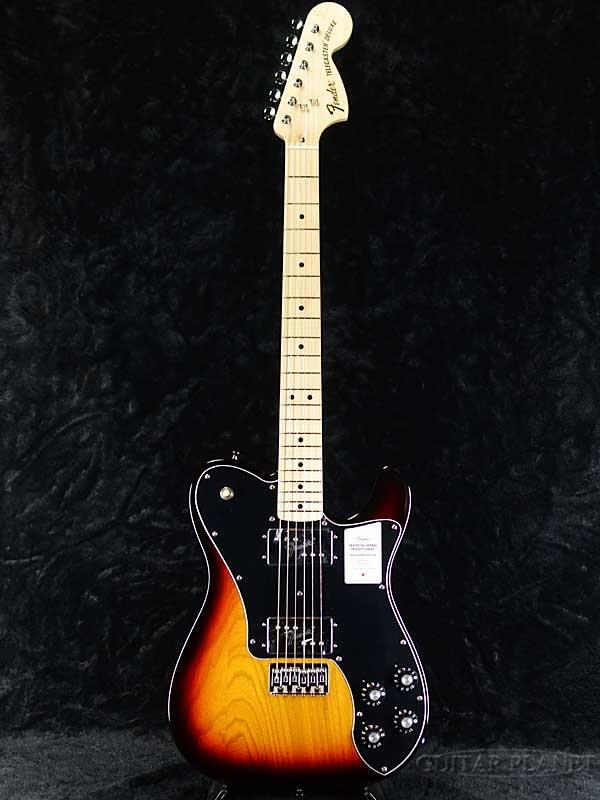 【NEW MODEL】Fender Made in Japan Traditional 70s Telecaster Deluxe -3-Color Sunburst- 新品 [フェンダージャパン][トラディショナル][サンバースト][テレキャスター][Electric Guitar,エレキギター]