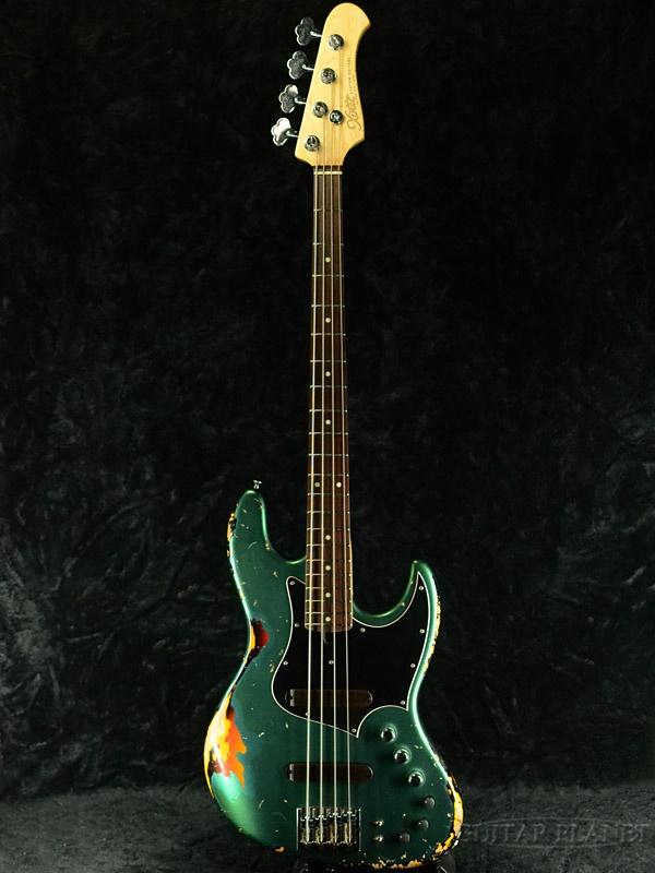 XOTiC XJ-1T Heavy Aged Laquer -Sherwood Green over 3 Tone Sunburst- 新品[エキゾチック][4弦][Green,グリーン,サンバースト,緑][Jazz Bass,ジャズベース]