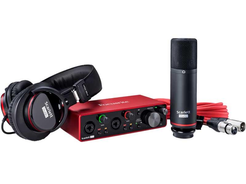 Focusrite Scarlett 2i2 3rd Gen Studio Pack 新品 オーディオインターフェイス[フォーカスライト][Audio Interface]