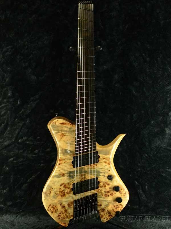 BLACKAT Guitars HSA 8 -Natural finish- 新品[Headless,ヘッドレス][8弦,8Strings][バールポプラ][Electric Guitar,エレキギター]