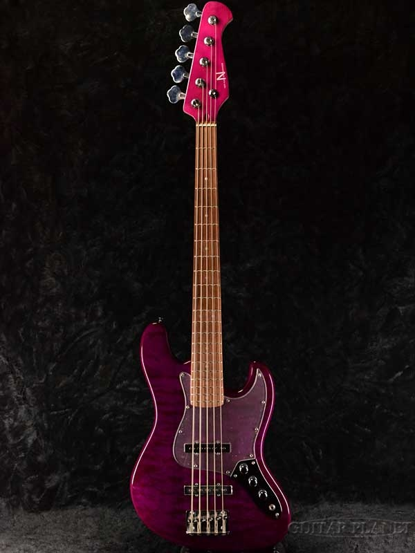 NEW AGE CHORDPHONE NJB220Q -PP- 新品[DYNAMIC CHORD,apple-polisher,Kuro,黒沢忍][Purple,パープル,紫][5弦][Jazz Bass,ジャズベース][Bass,ベース]