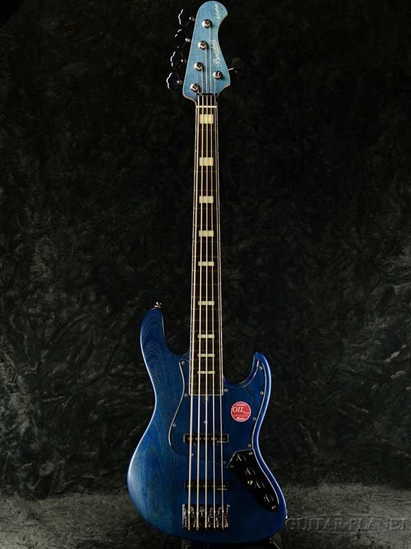 Bacchus WOODLINE 517 AC -Blue oil- 新品[バッカス][5弦][ブルー,青][Jazz Bass,ジャズベース]