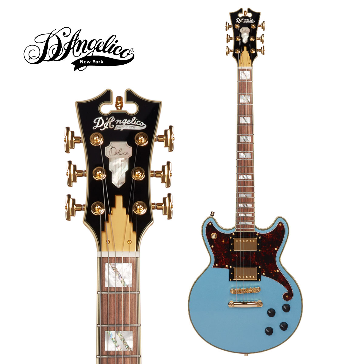 D'Angelico ~Deluxe -Steel Deluxe Brighton Guitar,エレキギター] Blue-[ディアンジェリコ][ブルー,青]Electric Series~