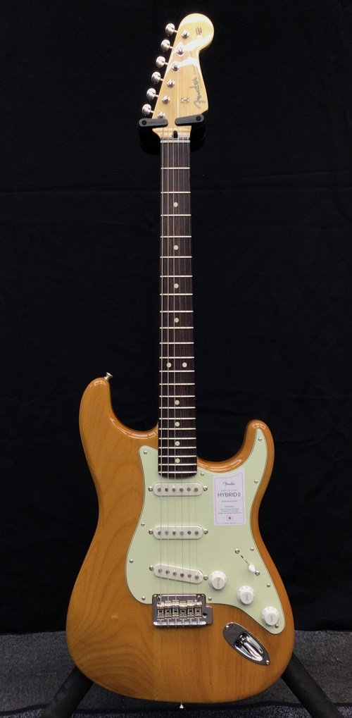 Fender Made In Japan Hybrid II Stratocaster -Vintage Natural / Rosewood-【JD21002527】【3.50kg】[フェンダージャパン][ハイブリッド][ストラトキャスター][ナチュラル][Electric Guitar,エレキギター]