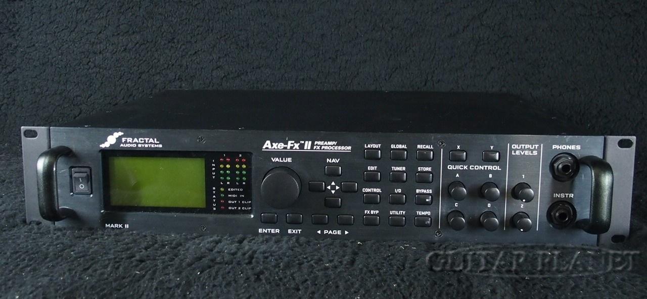 【中古】Fractal Audio Systems Axe-Fx II MARK II ギター用プロファイリングラック 2010年代製[フラクタルオーディオ][アンプ,エフェクター][Guitar Head Amplifier]