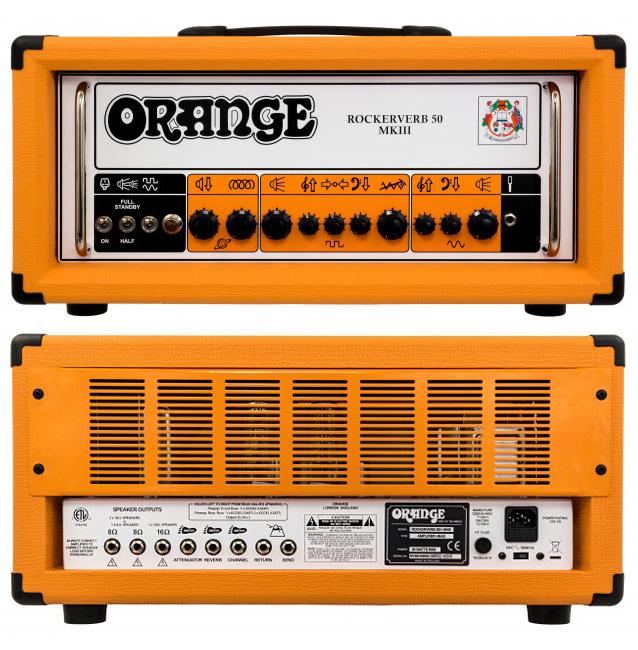 新しいコレクション 【キャンペーン中 Head!】【50W 50】Orange Rockerverb 50 MK III MK Head 新品 ギターアンプヘッド[オレンジ][ロッカーバーブ][マーク3][真空管搭載][Guitar Amplifier,Head][動画], 西根町:c2efce96 --- bodybylekan.com