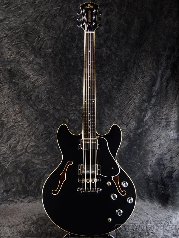 Aria Pro II TA-DOMINO -Black- 新品[アリアプロ2][国産][ブラック,黒][セミアコ][Electric Guitar,エレキギター]