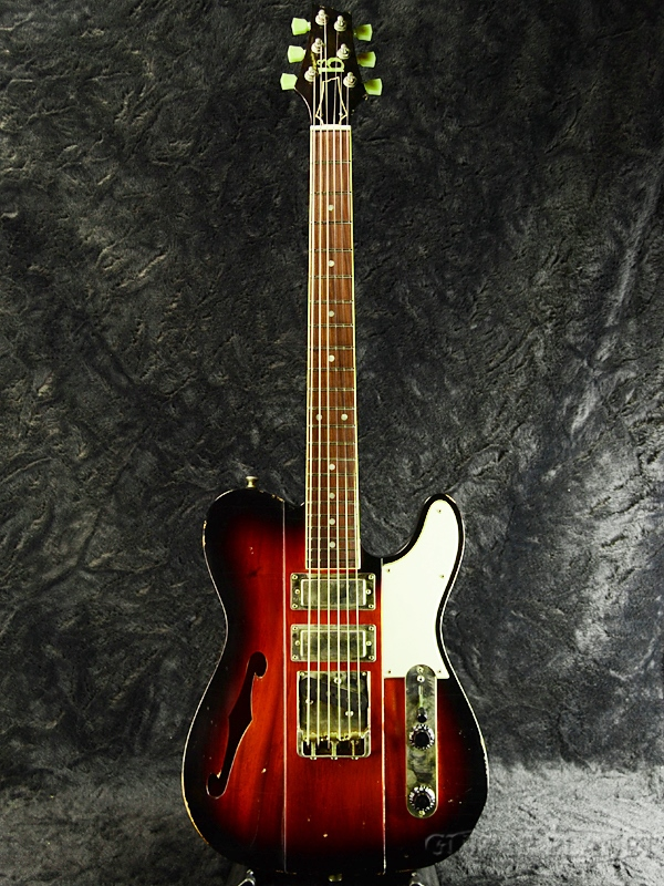 b3 Phoenix with F-Hole -Dark Cherry Burst- ''Build by Gene Baker'' 新品[ジーン・ベイカー][ホロウ][Telecaster,TL,テレキャスター][ダークチェリーバースト][Electric Guitar,エレキギター]