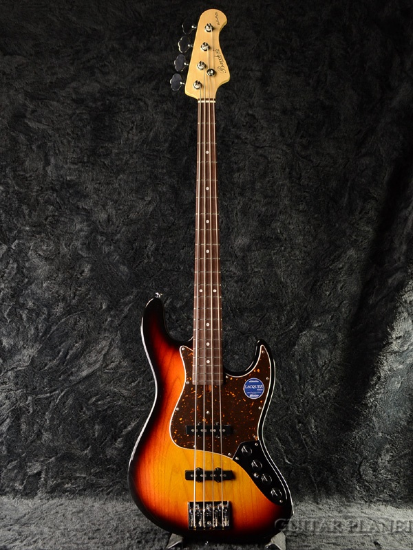 【当店オーダー品】Bacchus Woodline DX4-AC 3TS 新品 3トーンサンバースト[バッカス][国産][ウッドライン][3-Tone Sunburst][ジャズベースタイプ,Jazz Bass,JB][エレキベース,Electric Bass]
