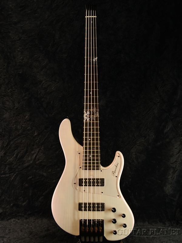 【Headless Bass】Bacchus WOODLINE5-HL24 / Fuyuzakura-MF'18 新品[バッカス][国産/日本製][ウッドライン][5strings,5弦][White,ホワイト冬桜,木目,白][ヘッドレス][ナチュラル][Electric Bass,エレキベース]