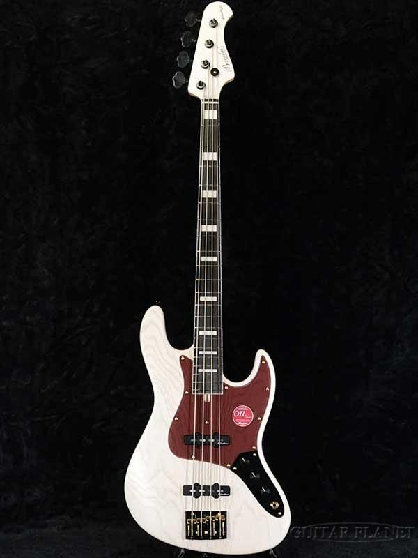 【限定カラー】Bacchus WOODLINE 417 BGP -White Oil- 新品[バッカス][国産][ホワイト,白][オイルフィニッシュ][Jazz Bass,ジャズベース][Electric Bass,エレキベース]