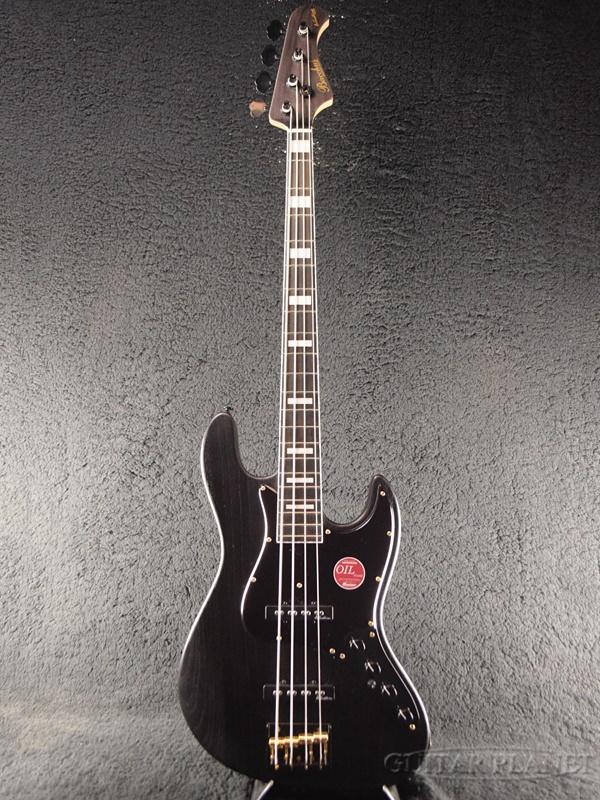 Bacchus WOODLINE417 AC BGP -Black Oil- Aguilar OBP-2搭載 新品[バッカス][国産][ブラックオイル,黒][Jazz Bass,ジャズベースタイプ][Electric Bass,エレキベース]