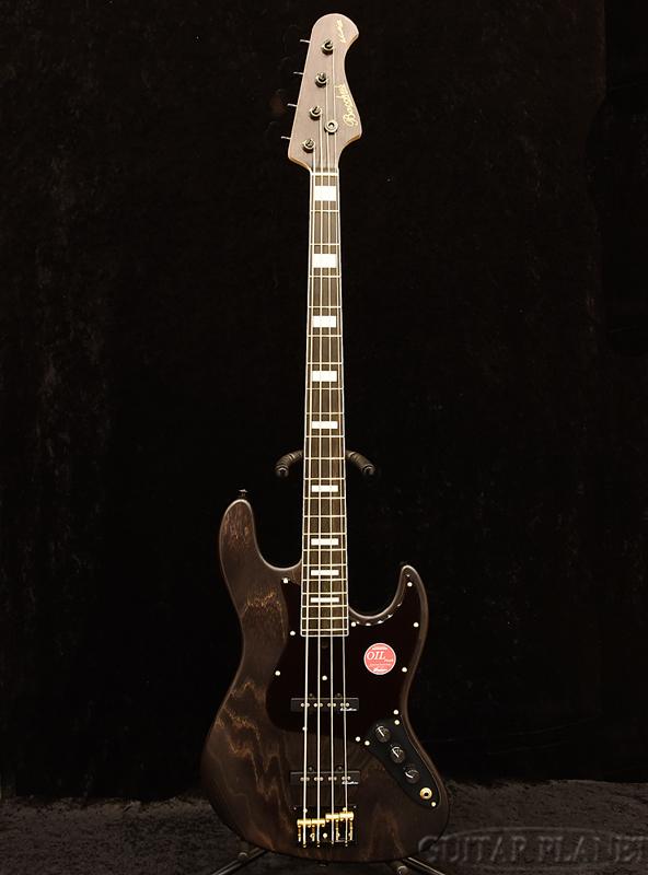 Bacchus WOODLINE417 BGP -Black Oil- 新品[バッカス][国産][Black & Gold Package][ブラックオイル,黒][Jazz Bass,ジャズベースタイプ][Electric Bass,エレキベース]