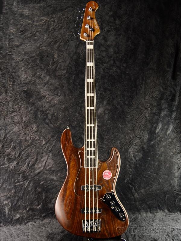 【Aguilar OBP-2搭載】Bacchus WOODLINE417 AC -Brown Oil- 新品[バッカス][国産][Natural,ブラウンオイル,ナチュラル,木目][Jazz Bass,ジャズベースタイプ][Electric Bass,エレキベース]