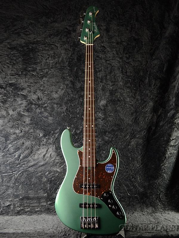【当店オーダー品】Bacchus Woodline DX4-AC OTM 新品 [バッカス][国産][ウッドライン][Ocean Turquoise Metallic,オーシャンターコイズメタリック,緑][ジャズベースタイプ,Jazz Bass,JB][エレキベース,Electric Bass]