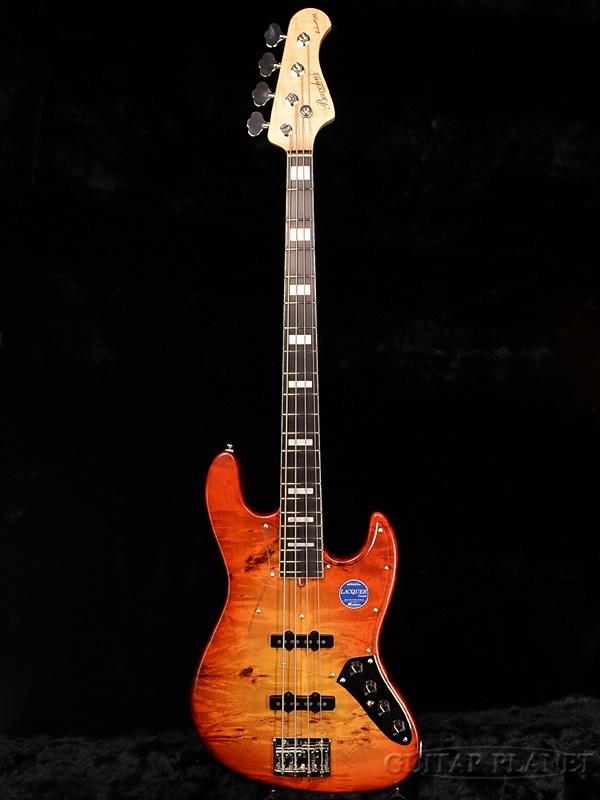Bacchus WOODLINE DX 4AC EWC/BP-HB/MAT-brand new [Bacchus], [domestic] Honey Burst, honey burst [Jazz Bass, jazz bass type] Active Active, Burl Poplar, same Electric Bass, electric bass