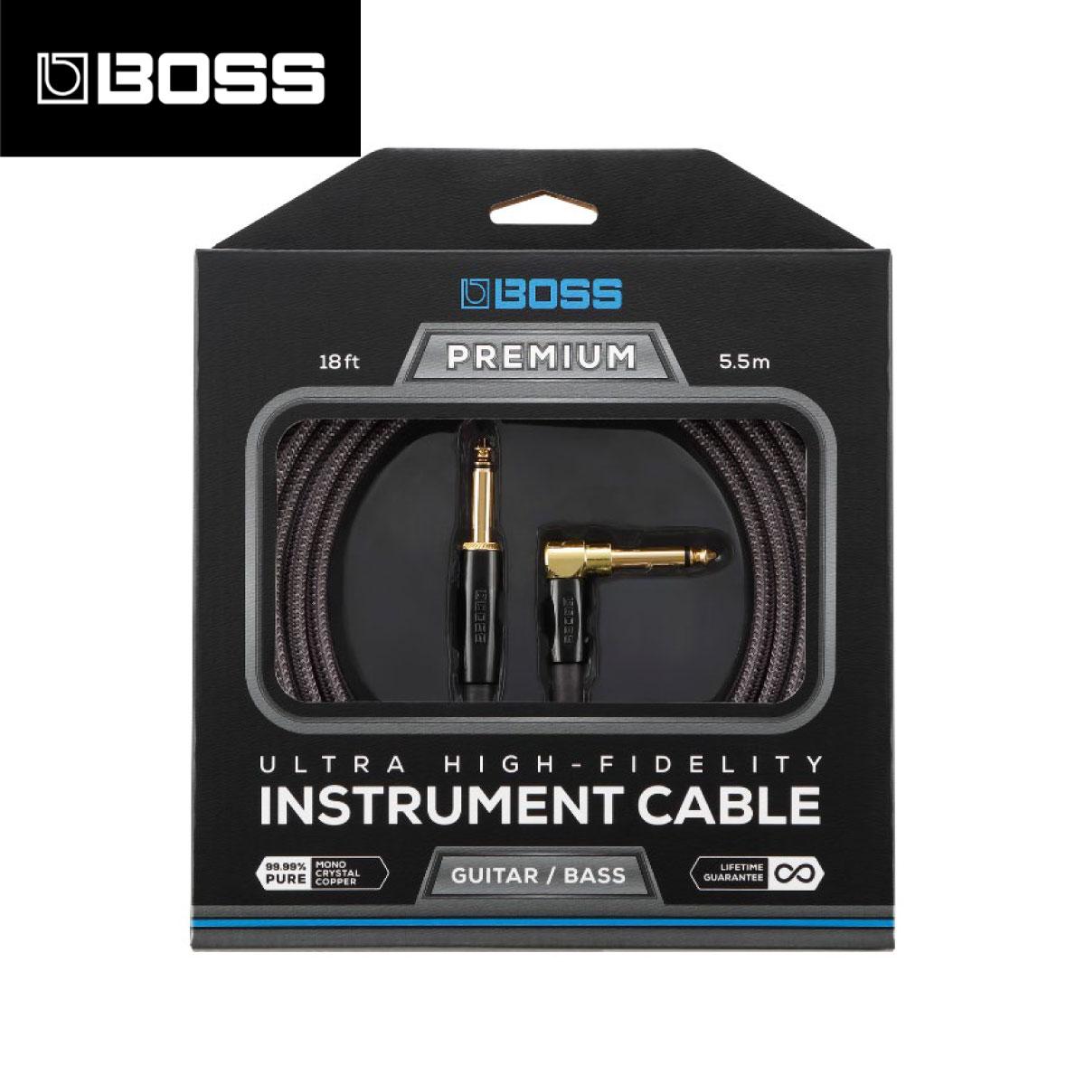 BOSS BIC-P18A 5.5m 片側L型プラグ 新品 [ボス][Instrument Cable,シールド][SL,S/L][楽器用ケーブル,Guitar,Bass,ギター,ベース]
