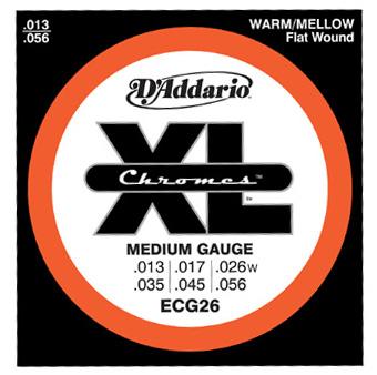 【10セット】D'Addario 13-56 ECG26 Chromes Medium 新品[ダダリオ][ECG-26][ミディアム][Chromes Flat Wound,クロームフラットワウンド][エレキギター弦,string]