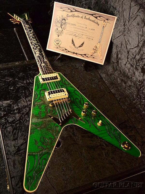 【7月限定大特価!!】【中古】Dean SCHENKER BROTHERS V -TRANS GREEN- 2007年製[ディーン][シェンカーブラザーズ][Michael Schenker,マイケルシェンカー][トランスグリーン,緑][Flying V,フライングVタイプ][Electric Guitar,エレキギター]【used_エレキギター】