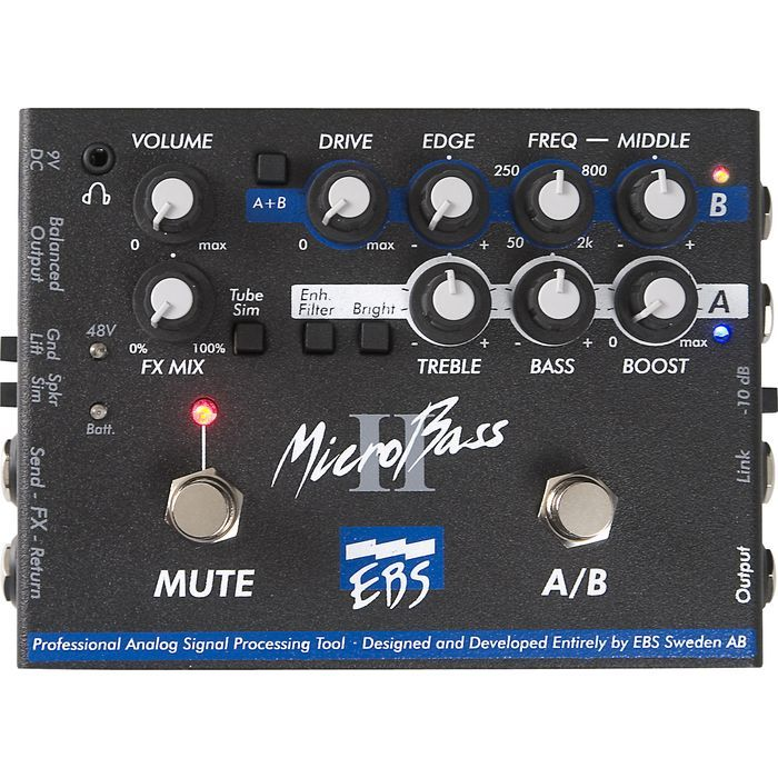 EBS Micro Bass II 新品 ベースプリアンプ[マイクロベース2][Preamplifier][Bass,ベース用][Effector,エフェクター]