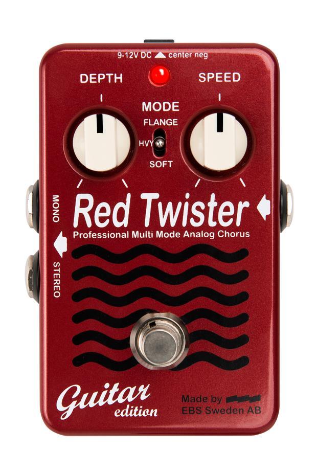EBS Red Twister 新品 コーラス/フランジャー[レッドツイスター][ギター用][Chorus][Flanger][Effector,エフェクター]