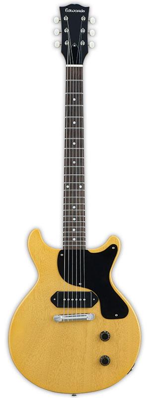 Edwards E-JR-100LT/DC新货TV黄色[爱德华兹][国产][ESP名牌][小Les Paul Junior,莱斯·保罗小Les Paul Junior,莱斯·保罗型][Double Cutaway,双刀具方法][TV Yellow,黄色][Electric Guitar,电子吉他]