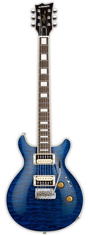Edwards E-KT-135S/QM 新品 ブラックアクア[エドワーズ][ESPブランド][Black Aqua,Blue,ブルー,青][Electric Guitar,エレキギター]
