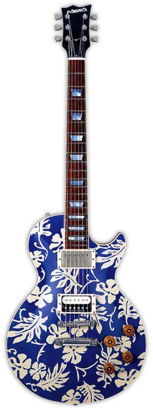 注目の Edwards E-MA-'98 ALOHA KEN 新品 横山健モデル[エドワーズ][国産][ESPブランド][Les Paul,レスポールタイプ][アロハ][Blue,ブルー,青][Electric Guitar,エレキギター], おもちゃやspiral d6399046