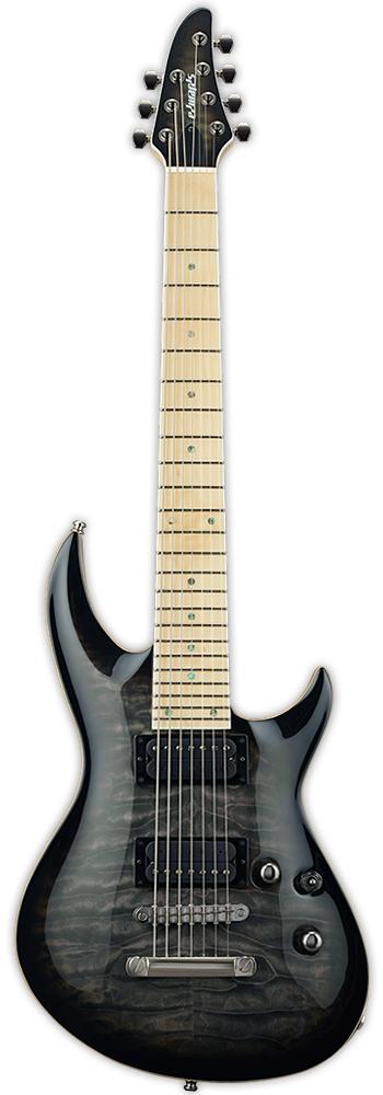 Edwards E-HR-III NT7 QM/M See Thru Black Sunburst 新品[エドワーズ][国産][7strings,7弦][ブラックバースト,黒][Electric Guitar,エレキギター]