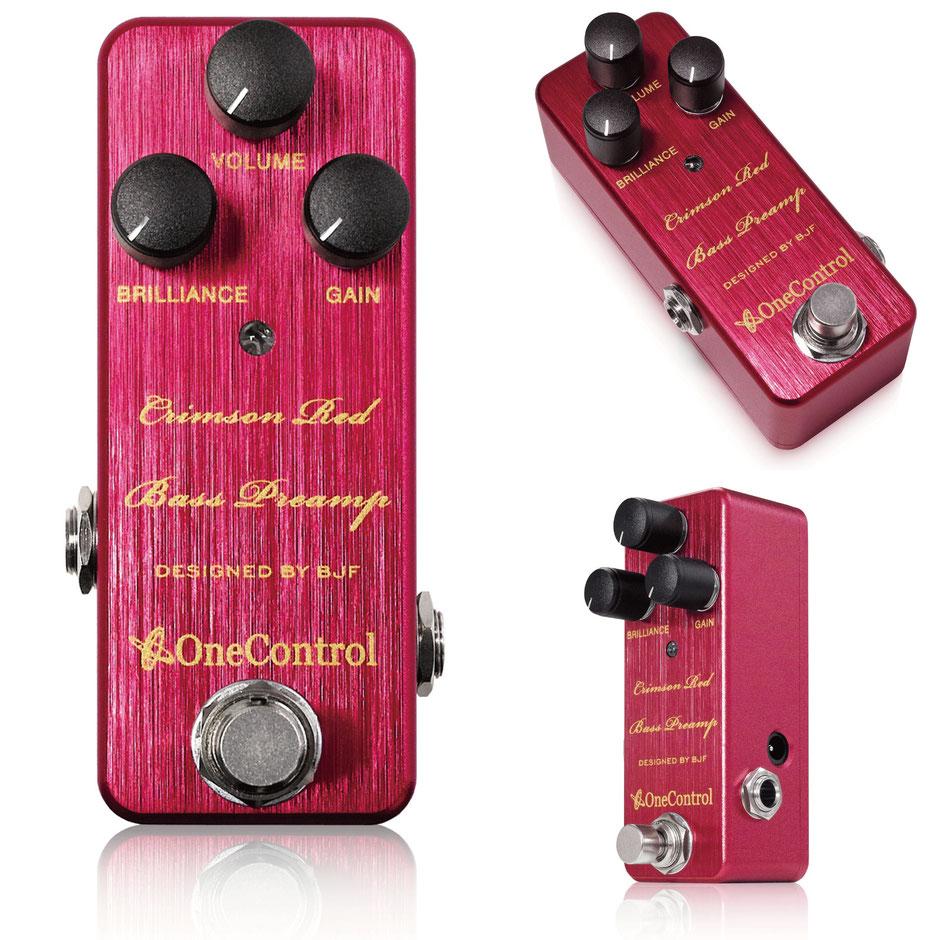 One Control Crimson Red Bass Preamp 新品[ワンコントロール][クリムゾンレッド][赤][ベースプリアンプ][Effector,エフェクター]
