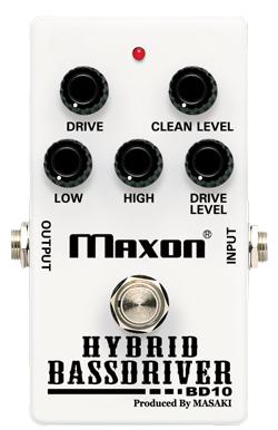 Maxon BD10 HYBRID BASSDRIVER 新品 ベース用オーバードライブ[マクソン][ハイブリッドベースドライバー][Overdrive][Effector,エフェクター][BD-10]