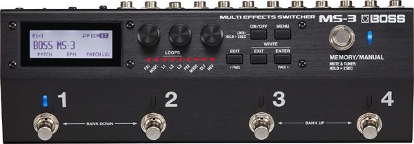 BOSS MS-3 Multi Effects Switcher 新品 プログラムスイッチャー[ボス][エフェクトスイッチングシステム][Effector,エフェクター][MS3]