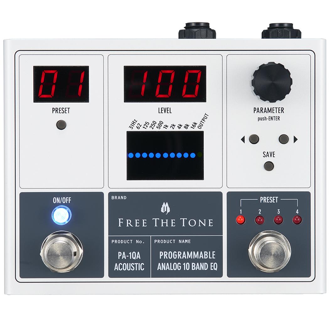 Free The Tone PROGRAMMABLE ANALOG 10 BAND EQ PA-1QA 新品 アコースティック用デジタルイコライザー[フリーザトーン][プログラム][Equalizer][Effector,エフェクター]