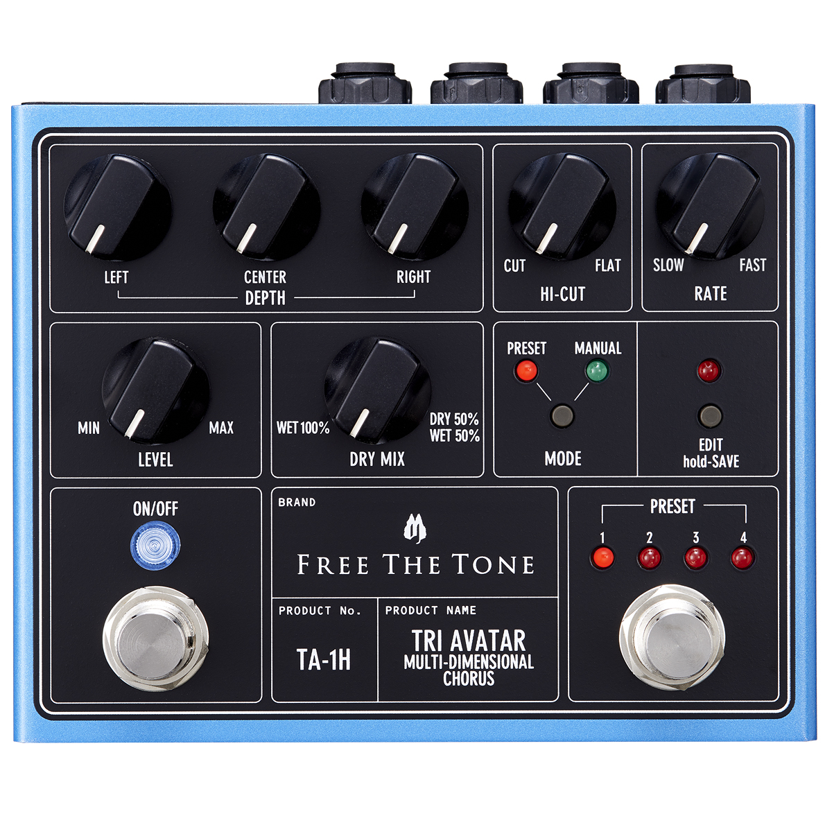 Free The Tone TA-1H TRI AVATAR Multi-Dimensional Chorus 新品 コーラス[フリーザトーン][Chorus][エフェクター,Effector]