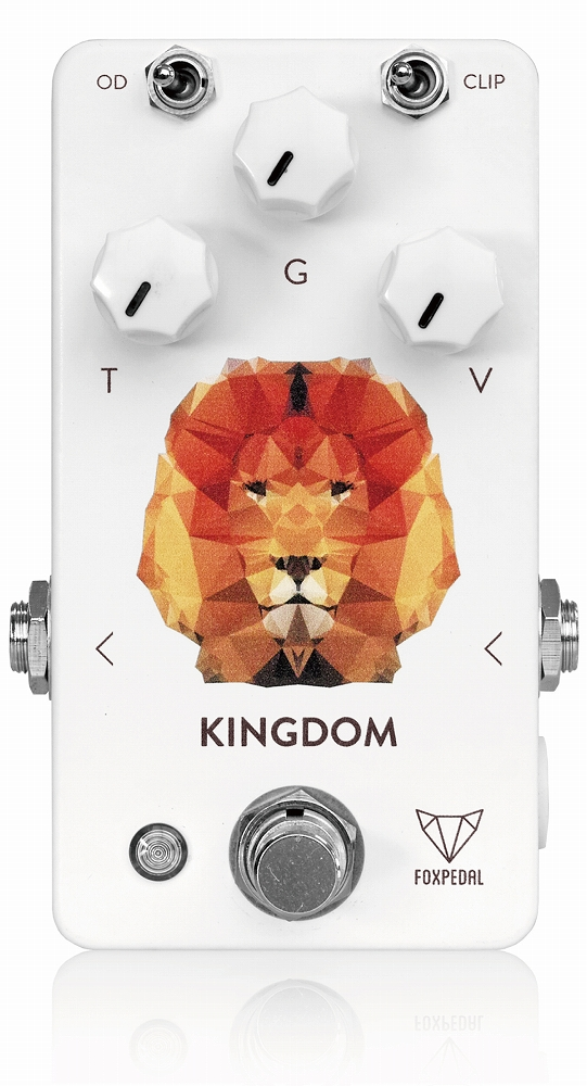 Foxpedal Kingdom White Polygon Lion 新品 オーバードライブ[フォックスペダル][キングダム][OverDrive][Effector,エフェクター]