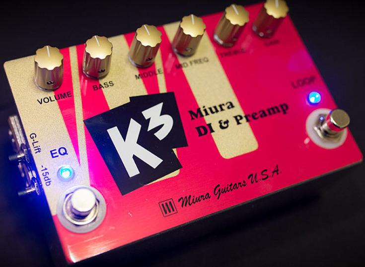 Miura Guitars U.S.A. K3 Miura Bass DI & Preamp 新品 ベース用プリアンプ[ミウラギターズUSA][Effector,エフェクター]
