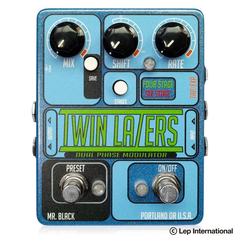 Mr. Black Twin Lazers 新品 デュアルフェイザー [ミスターブラック][スーパームーン][Reverb][エフェクター,Effector]_otherfx