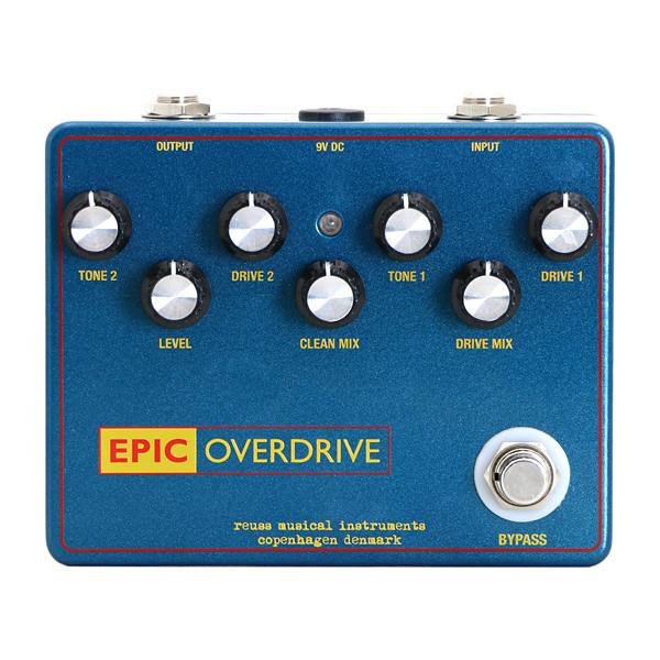 REUSS Musical Instruments Epic Overdrive 新品 TS、トランスペアレント系オーバードライブ[ロイス][エピック][Overdrive][Effector,エフェクター]